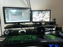 Gaming Setup Ideas Wonderful Workspace Cool Computer Setups Gaming Led Monitorcoolest