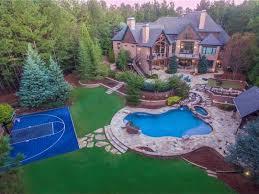 Backyard Pool And Basketball Court Wow U0027 House Pool House Tub Basketball Court In Gwinnett