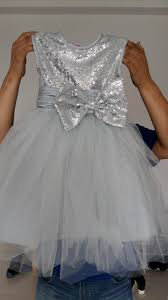 fashioin silver flower dresses for weddings little girls