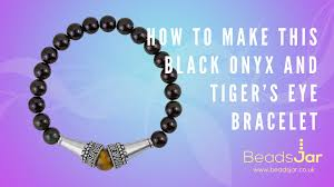eye bracelet jewelry images Learn to make simple black onyx and tiger 39 s eye bracelet jpg