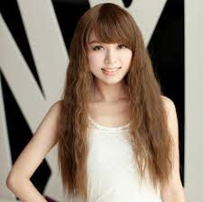 medium long hair pictures of long curly hairstyles korean