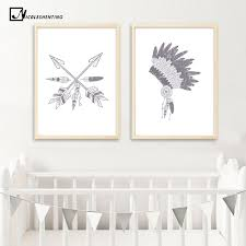 online shop watercolor feathers arrow poster abstract canvas print