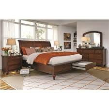 aspenhome cambridge queen size bed with sleigh headboard u0026 drawer