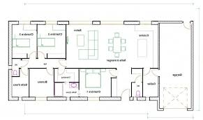 plan plain pied 4 chambres maison 120m2 4 chambres