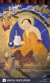 painted buddhist wall mural thikse monastery ladakh jammu kashmir painted buddhist wall mural thikse monastery ladakh jammu kashmir state northern india