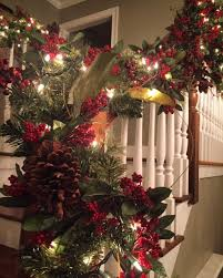 Christmas Lights For Stair Banisters Vivid Hue Home How To