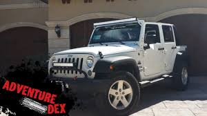 his and hers jeeps jeep wrangler 50 inch led light bar installation youtube