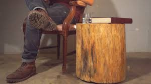 How To Make End Tables by How To Make A Log End Table
