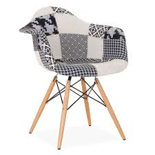 wooden arms patchwork chair black u0026 white pepy edition design