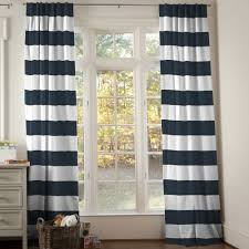 Navy Coral And White Bedroom Decorating Black And White Horizontal Striped Curtains For