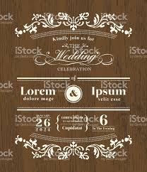 wedding backdrop design template vintage typography wedding invitation design template on wooden