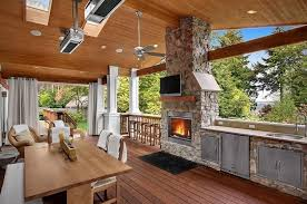 cuisine d été en bois design exterieur cuisine d été extérieure couverte moderne