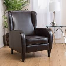 Hadley Bistro Chair Hadley Espresso Leather Wingback Club Chair Recliner Great Deal