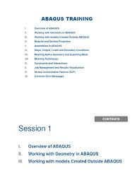 abaqus training elasticity physics deformation engineering