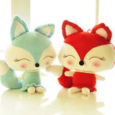 valentines day stuffed animals soft toys 30 40 50cm lovely fox plush toys kawaii stuffed animal