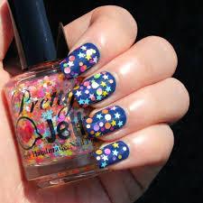 glitter nail polish indie nail lacquer mini star dot neon