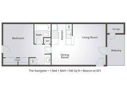 1 bedroom apartment floor plans u0026 pricing u2013 beacon at 601 mesa az