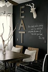 Esszimmer St Le Umgestalten Schwarze Wandfarbe 17 Praktische Ideen Mit Tafellack
