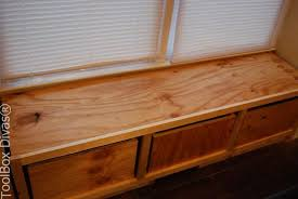 Bench Seat Gun Cabinet Diy Window Bench Seat With Drawer Storage Hometalk