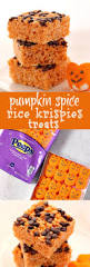 pumpkin spice rice krispies treats crunchy creamy sweet
