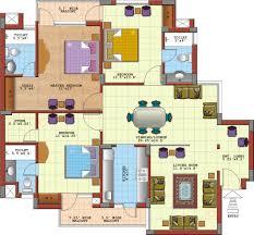bed 3 bedroom flat floor plan