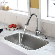 Chrome Kitchen Faucet Stainless Steel Kitchen Sink Combination Kraususa Com
