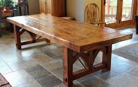 rustic oak kitchen table distressed wood dining table ideas lustwithalaugh design more