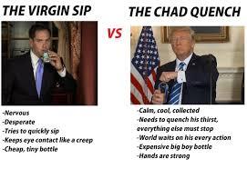 Drinking Water Meme - rubio vs trump drinking water the donald