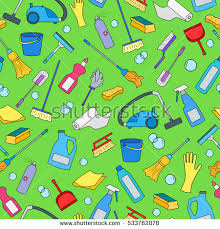 cartoon pictures of cleaning seamless pattern on theme cleaning household stock vector
