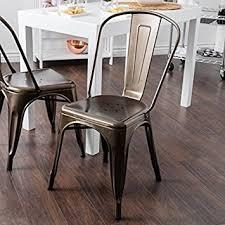 Steel Bistro Chairs Tabouret Bistro Vintage Bronze Steel Side Chairs