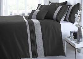 portfolio kimberley diamante duvet cover set and 2 pillowcases
