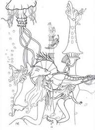 printable mermaid coloring pages girls pages color