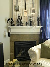 black and white halloween mantel organize and decorate everything