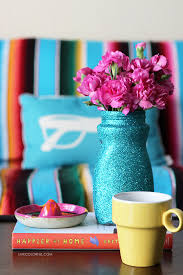 how to make a glitter flower vase centerpiece live colorful