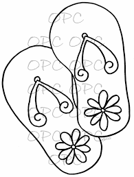 12 coloring pages of flip flop throughout flip flop coloring page