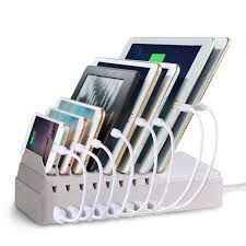 charging station organizer delicate fleck cs008 8 port desktop universal charging station