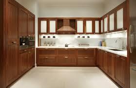 kitchen wonderful home interior mahogany u shape wooden kitchen