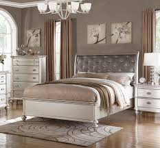 silver bed poundex f9317 platinum silver bed