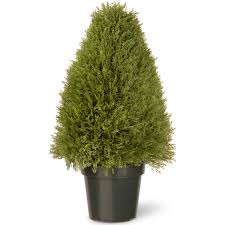 36 potted artificial arborvitae topiary tree walmart