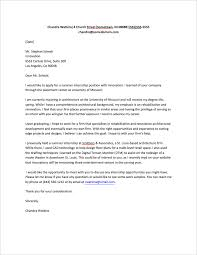 How To Write Cover Letter For Internship cover letter for internship sle fastweb