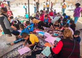 children fleeing mosul offensive find a safe place to play world