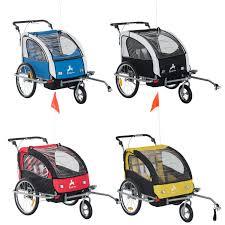 motocross bike trailer aosom aosom elite ii 3in1 double child bike trailer stroller
