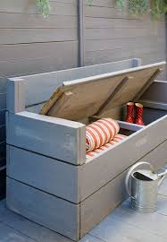 Outdoor Storage Bench Seat Plans by Best 25 Garden Storage Bench Ideas On Pinterest Garden Seating
