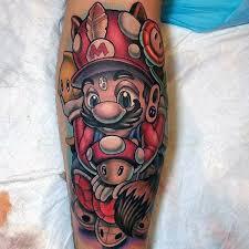 Guys Calf - 100 tattoos for gamer ink designs