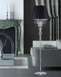 Crystal Table Lamps 122 Fl Chrome Crystal Floor Lamp With Swarovski Spectra Grandoluce