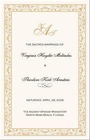 exle of wedding programs catholic wedding programs templates free finding wedding ideas