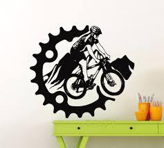 online get cheap garage vinyl aliexpress com alibaba group mountain bike wall sticker sport bicycle vinyl decal home garage room interior decoration creative art mural
