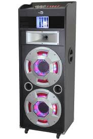 bluetooth party speakers with lights dolphin sp 142bt bluetooth party speaker system