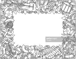 music themed doodle frame vector art getty images
