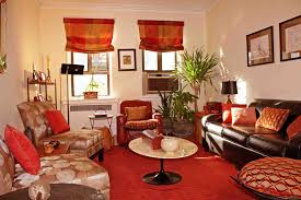 Living Room Curtains Living Room Red And Creem Colour Curtains With Brown And Cream
